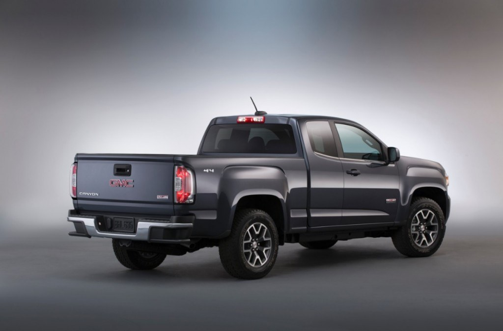 2015-GMC-Canyon-All-Terrain-Extended-Cab-Rear-Three-Quarter-in-studio-006-medium