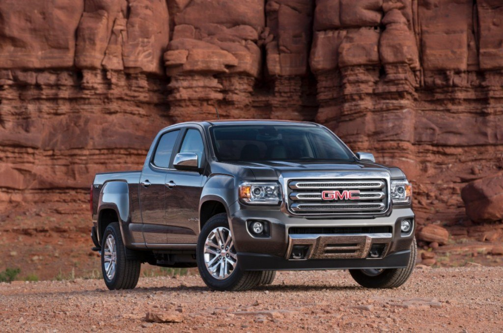 2015-GMC-Canyon-SLT-Crew-Cab-Front-Three-Quarter-005-medium