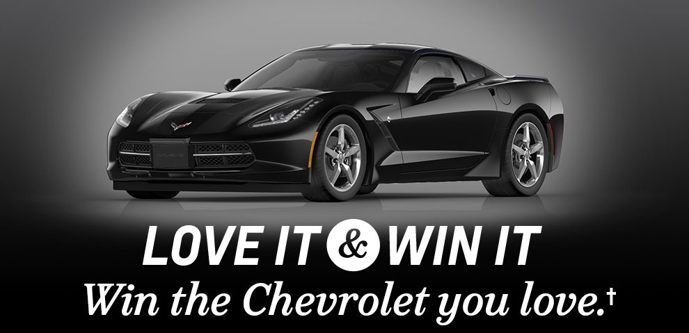You could win a brand new Corvette Stingray! Just enter below!