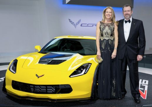 GM President Dan Ammann (R) and his wife, Pernilla, are the chairs of the dinner, the fourth consecutive year that a GM senior leader has chaired the event.