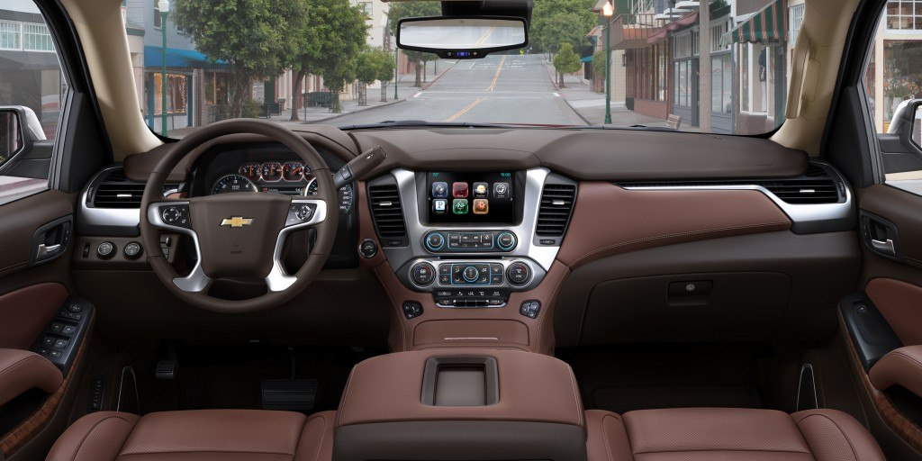 The 2015 Tahoe features an all-new interior with functional technology and creature comforts