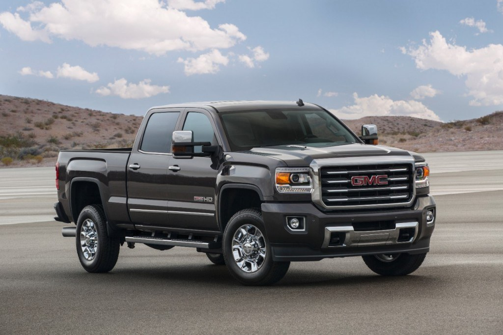 The 2015 Sierra All Terrain package will be available on 2500 and 2500 models. It goes on sale this summer.