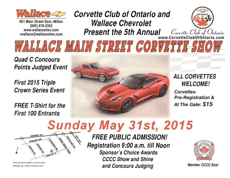 Wallace Main Street Corvette Show