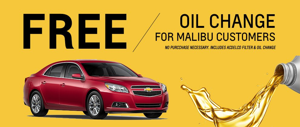 Chevrolet coupons oil change