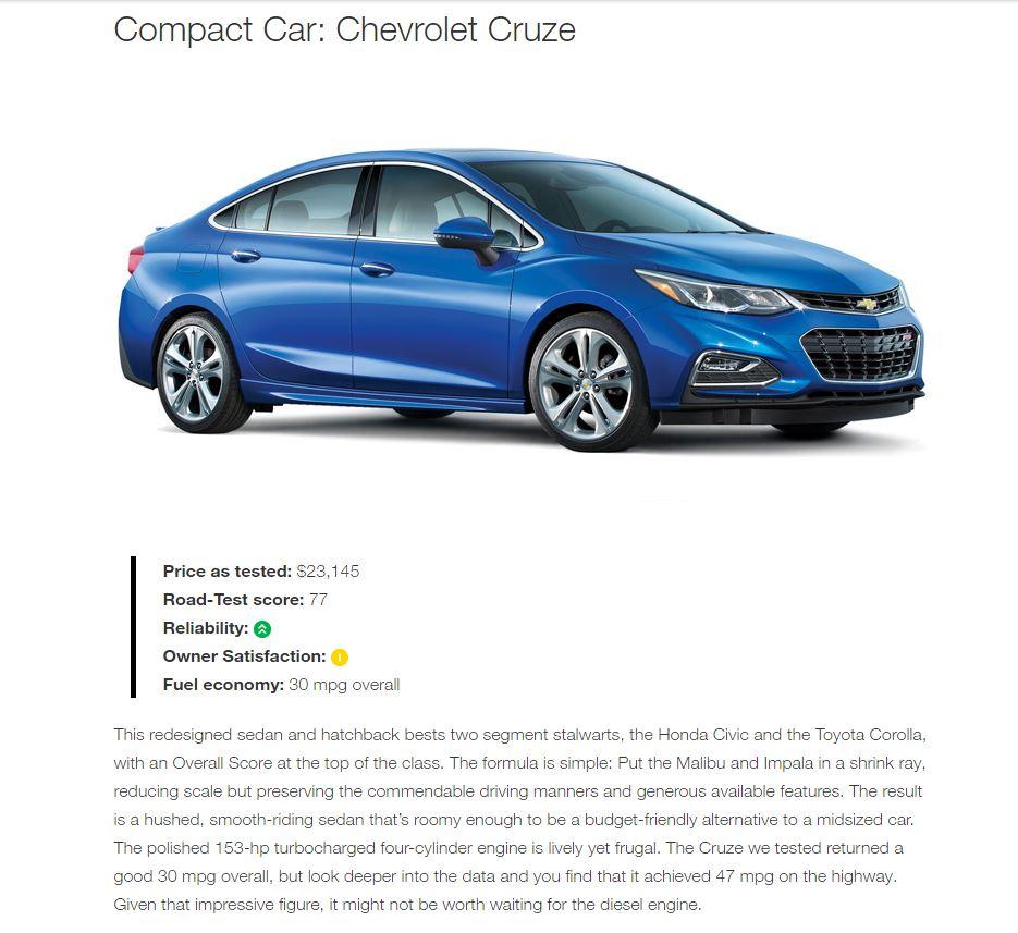 Chevrolet Consumer Reports