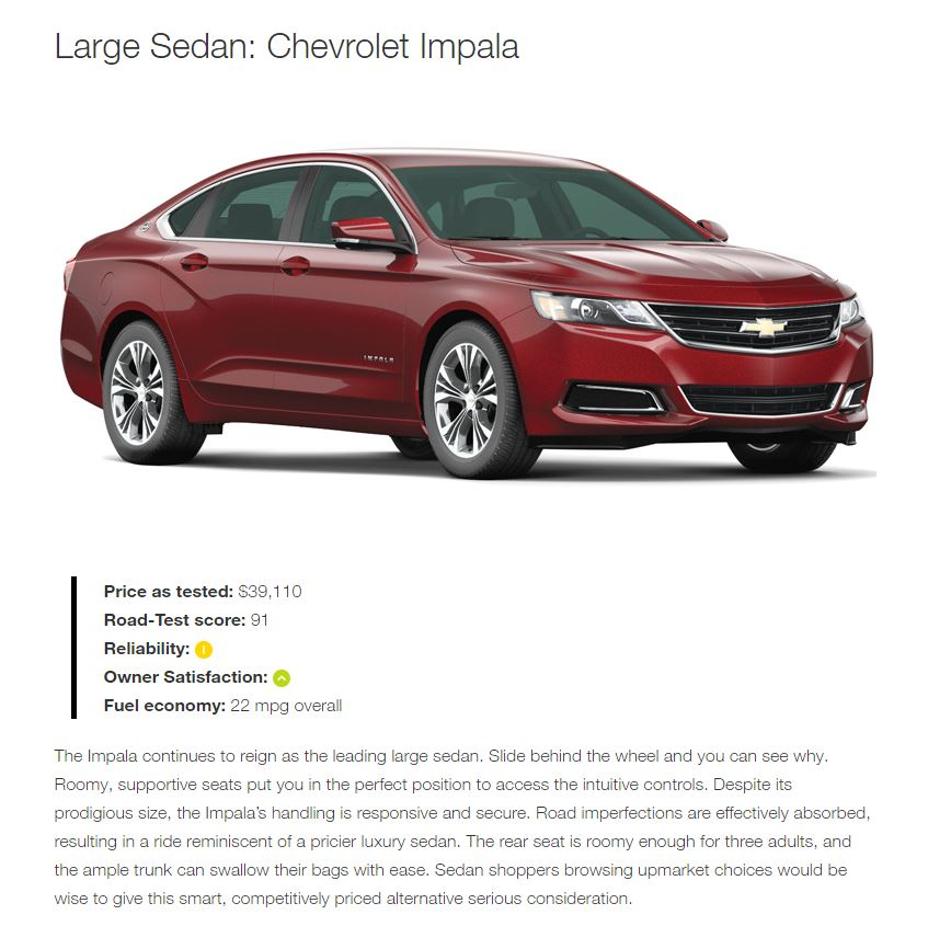 Chevrolet Consumer Reports