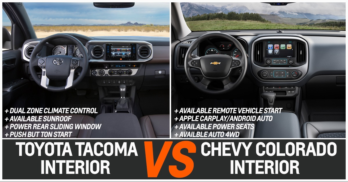 TOYOTA TACOMA VS CHEVY COLORADO INTERIOR