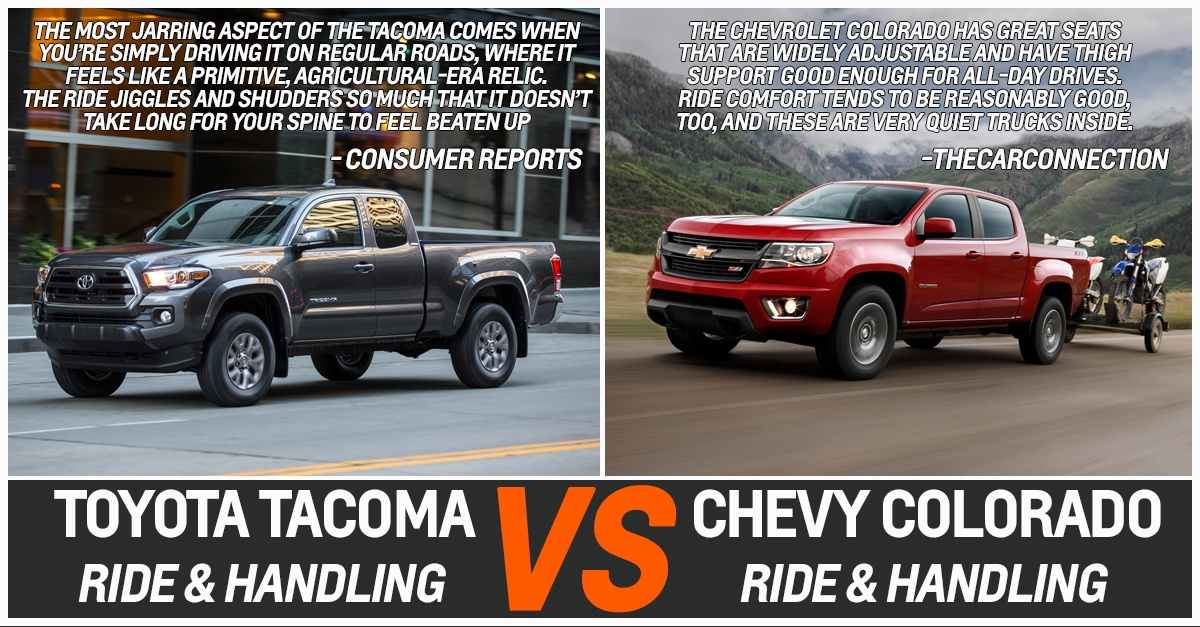 TOYOTA TACOMA VS CHEVY COLORADO RIDE & HANDLING