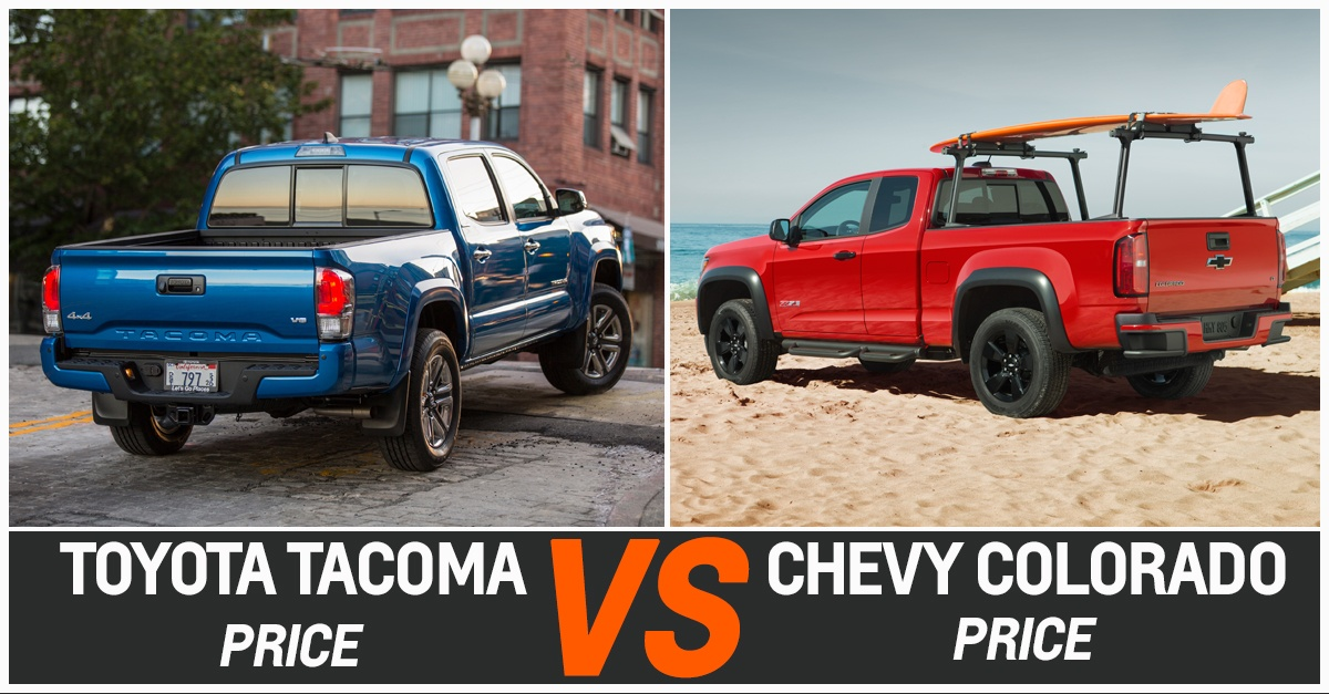 TOYOTA TACOMA VS CHEVY COLORADO RIDE & PRICE