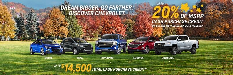 Chevrolet Specials October 2018