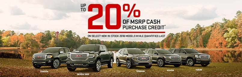 GMC Specials October 2018