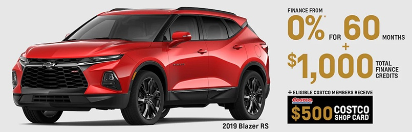 Chevrolet Blazer Offers January 2020